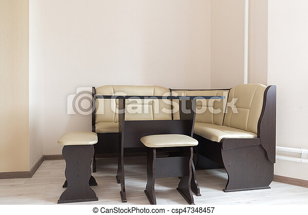 Inneneinrichtung, sofa, kueche , ecke, tisch.