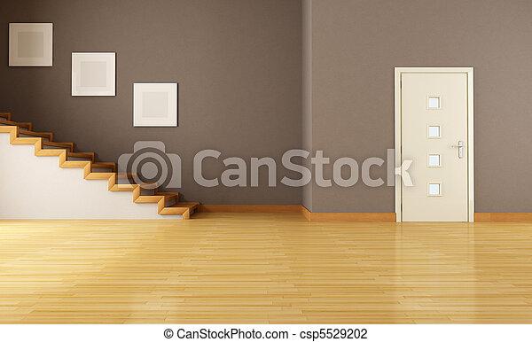Treppenaufgang Tür inneneinrichtung tür leerer treppenaufgang braune tür
