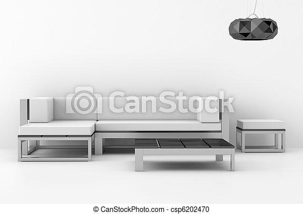 Weißes modernes Innere - csp6202470