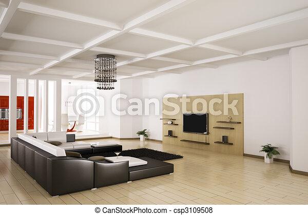 Inneneinrichtung Wohnung 3d Lebensunterhalt Render Zimmer
