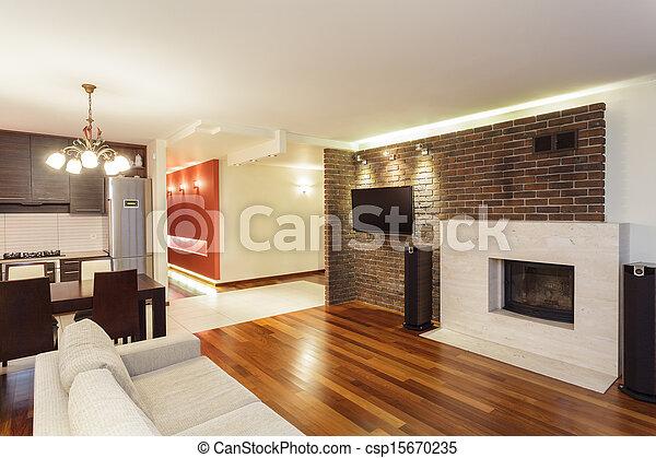 Inneneinrichtung Wohnung Geräumig Mietshaus Modern