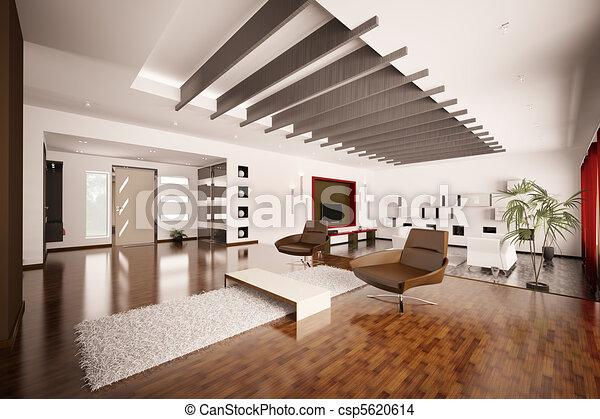 Inneneinrichtung Wohnung Modern Render 3d Lebensunterhalt