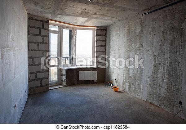 Unvollendete Wohnung ohne Möbel - csp11823584