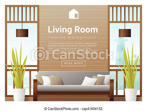 Inneneinrichtung, wohnzimmer, hintergrund, 7. Wohnzimmer, abbildung ...