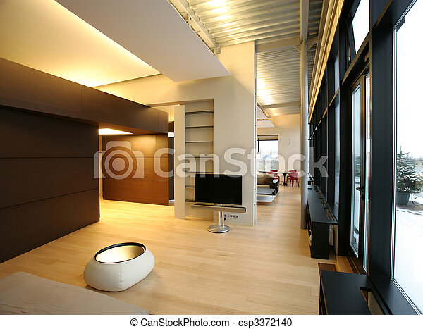 inneneinrichtung, wohnzimmer, groß, perspektive