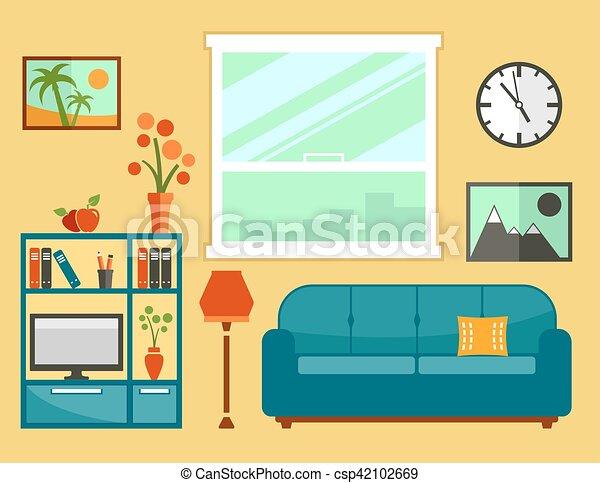 Inneneinrichtung wohnzimmer m bel lebensunterhalt for Wohnzimmer clipart