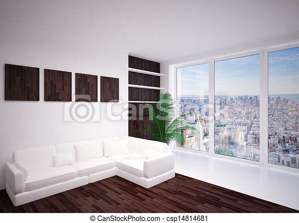 Inneneinrichtung, Wohnzimmer, Modern, Aufenthaltsraum   Csp14814681