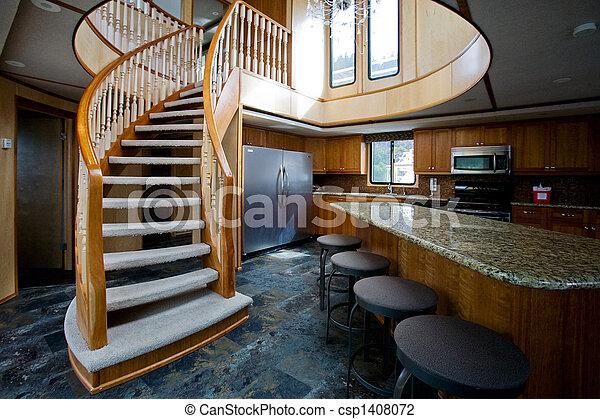 inneneinrichtung, yacht, luxus - csp1408072