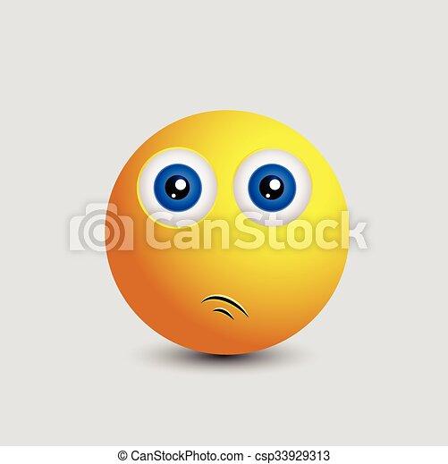Innocent Surprised Smiley - csp33929313
