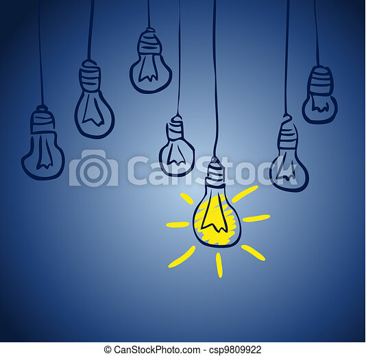 Innovative lamp.  idea concept - csp9809922