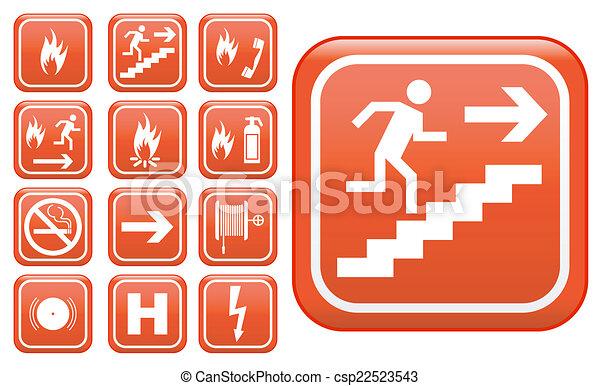 Señales de seguridad de emergencia - csp22523543