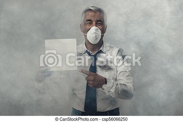 inquinamento maschera
