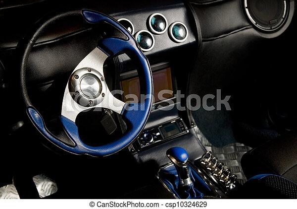 inre, bil, sport, stämd - csp10324629