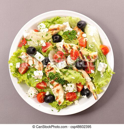 insalata pollo - csp48602395