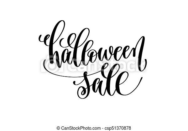 inscrição, lettering, dia das bruxas, venda, mão, feriado - csp51370878