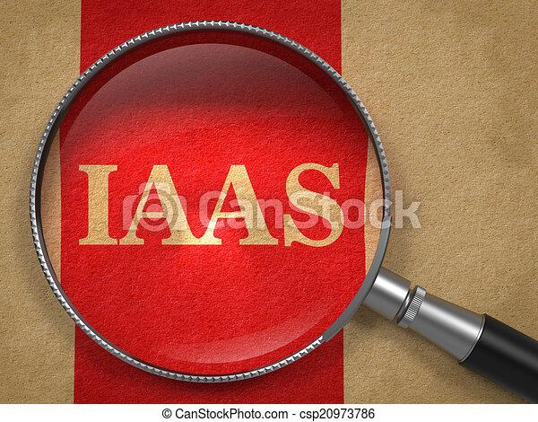 inscripción, iaas, por, lupa - csp20973786