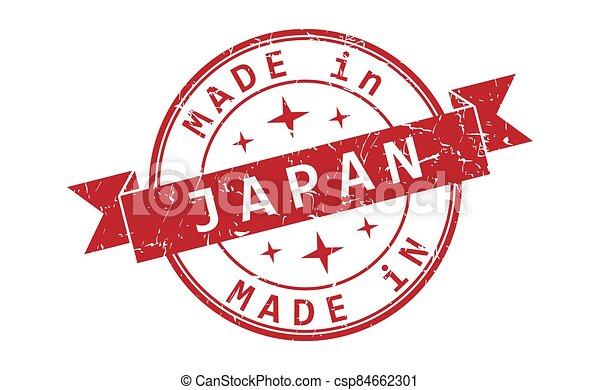 inscripción, japón, impresión, sello, hecho - csp84662301