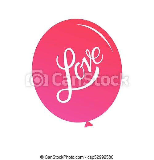 inscripción, love., calligraphic, letras - csp52992580