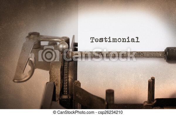 inscriptie, gemaakt, oud, typemachine, ouderwetse  - csp26234210