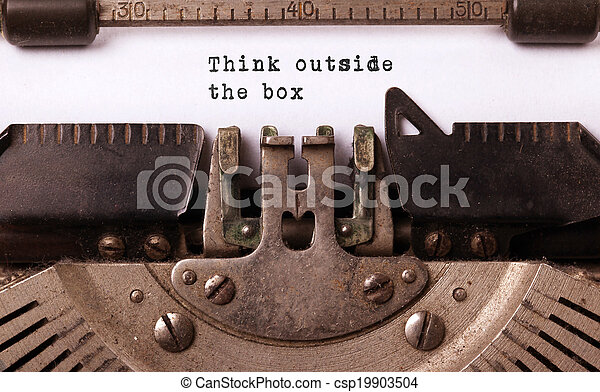 inscriptie, gemaakt, oud, typemachine, ouderwetse  - csp19903504