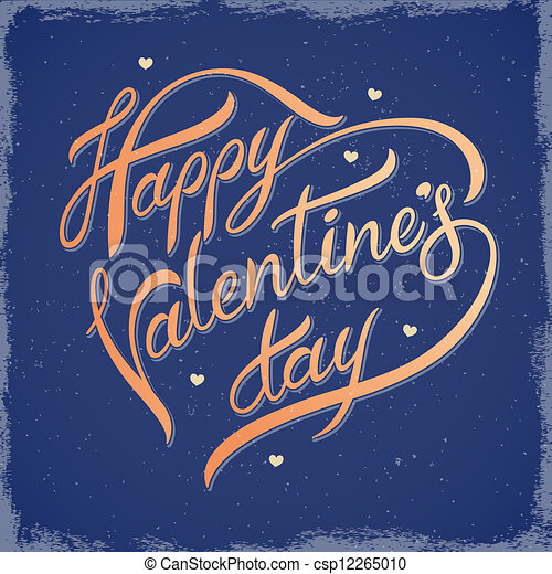 Inscription on Valentine's Day - csp12265010