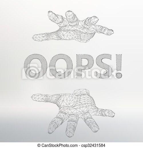 inscription, vecteur, lattice., -, illustration, arm., maille, oops, polygons., moléculaire, structural - csp32431584