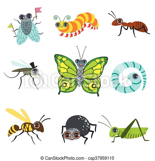 Insect Cartoon Images Collection - csp37959110