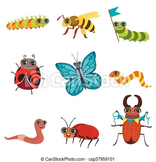 Insect Cartoon Images Set - csp37959101