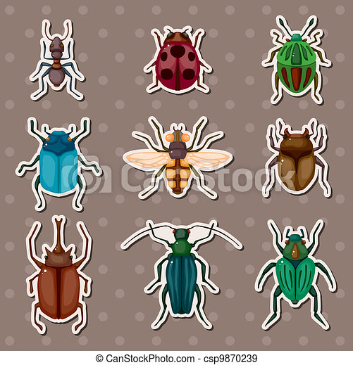 insect stickers - csp9870239