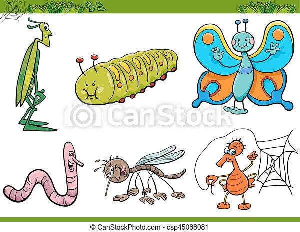 Personajes de insectos de dibujos animados - csp45088081