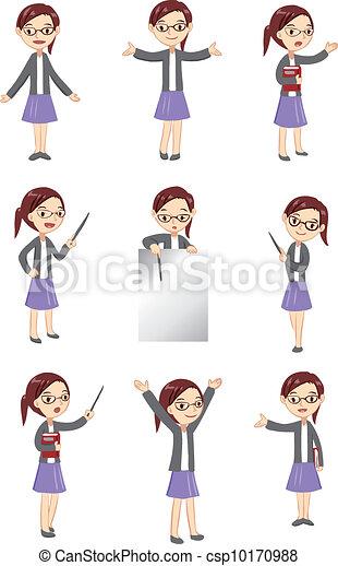 insegnante, femmina, mostra - csp10170988