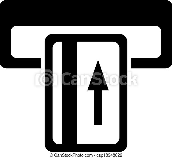 insert card symbol isolated on white
