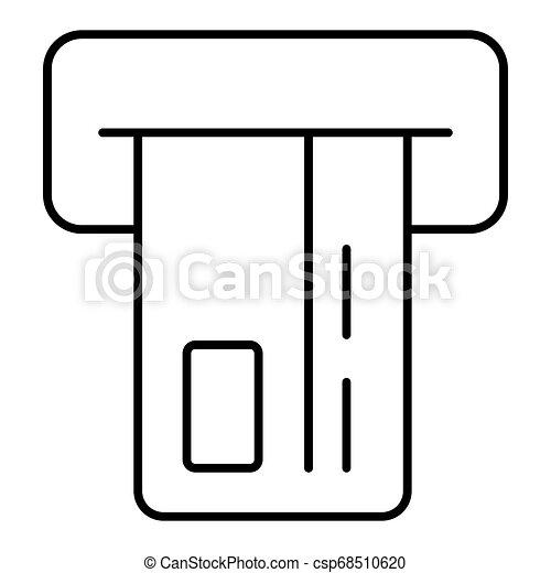 Insert credit card icon. Shopping sign. Bank ATM symbol. Flat outline design. eps 10 - csp68510620