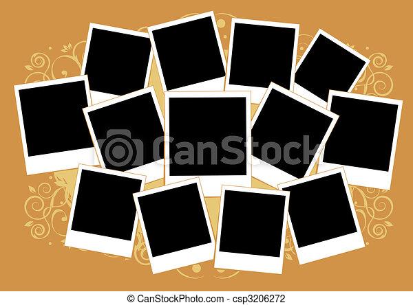 Insertar, imagen, collage, marco, photos., template., su.