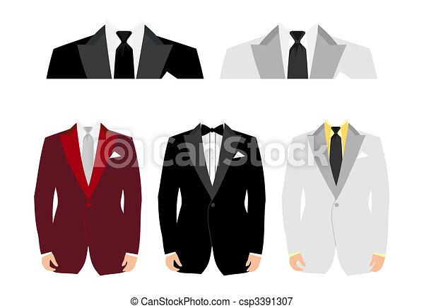 Trajes para insertar a la persona. Una ilustración del vector - csp3391307