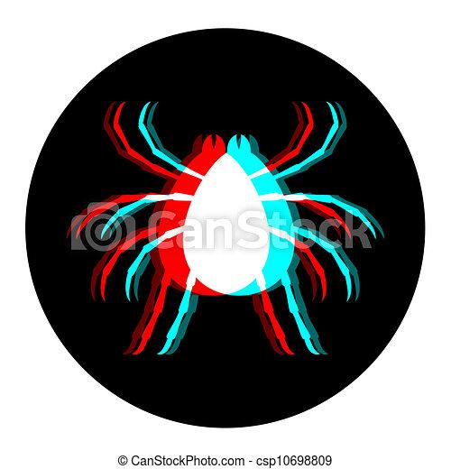 inseto, visual, ícone - csp10698809