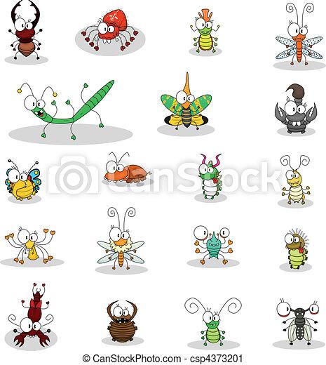 insetos, caricatura - csp4373201