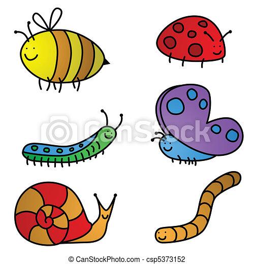 insetto, cartoni animati - csp5373152