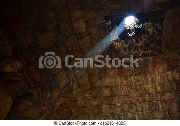Inside medieval Armenian monastery - csp21614323