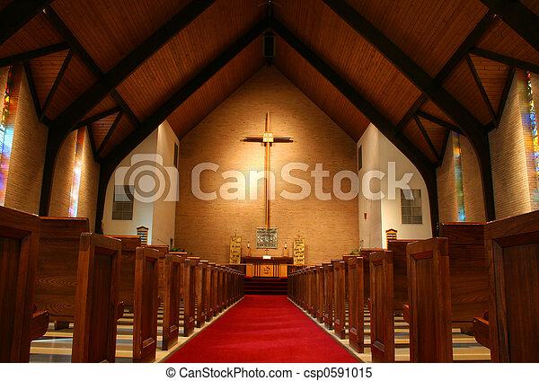 Inside of a church - csp0591015