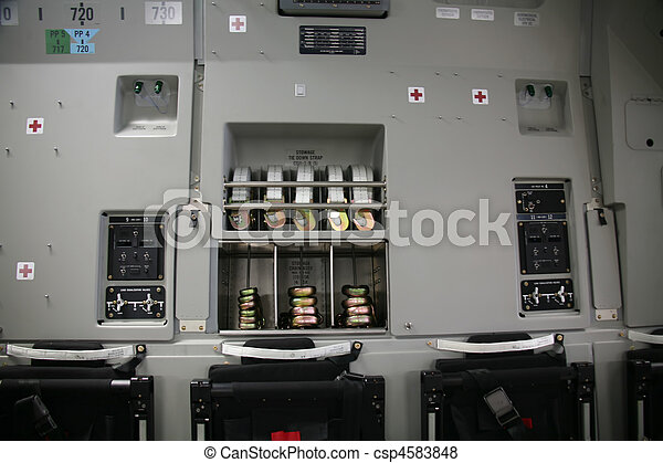 Inside Panel of Military Aircraft C-17 - csp4583848