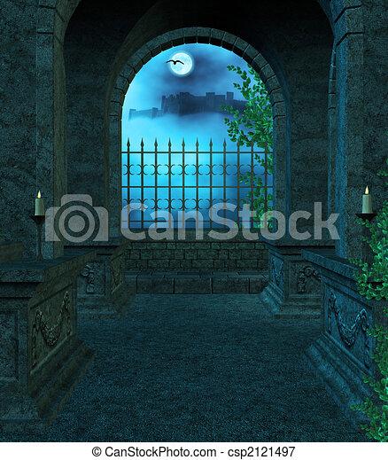Inside the Mausoleum - csp2121497
