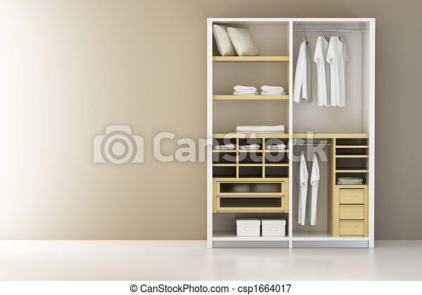 Inside the modern closet 3d rendering - csp1664017