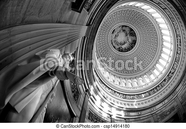 Inside US Capitol Dome - csp14914180
