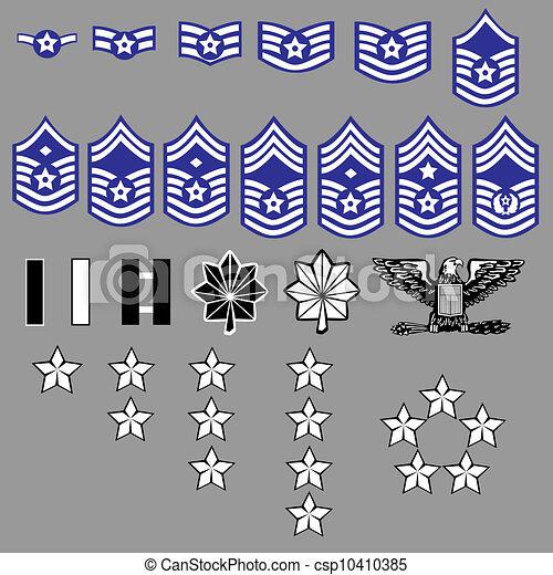 insignia, força, nós, grau, ar - csp10410385