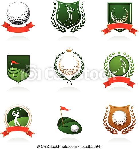 La insignia del golf - csp3858947