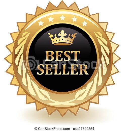 Una placa de best seller - csp27649854