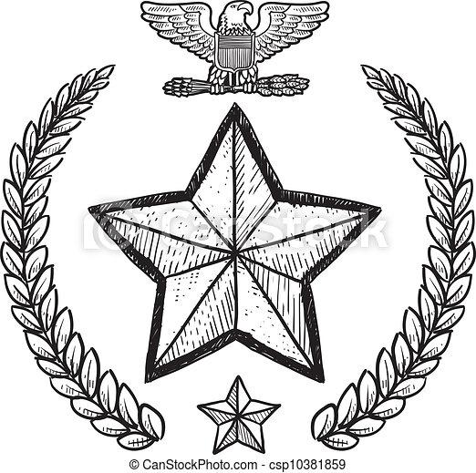 insignia, militar, exército - csp10381859