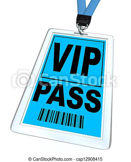 Pase VIP - cordón y placa - csp12908415