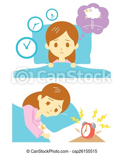 Insomnia, sleeplessness, woman - csp26155515